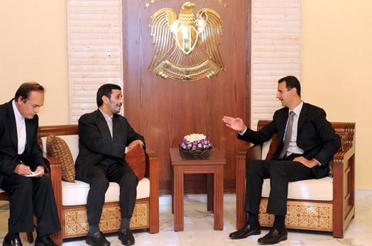 SYRIA IRAN AHMEDINEJAD DIPLOMACY