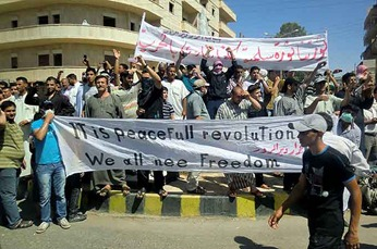 The streets in towns and cities across Syria have been filled with demonstrators every Friday since mid-March 2011. Photo Credit AFP.