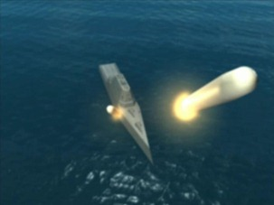 Cruise missiles reach ballistic speeds in their trajectory to mid-course following vertical launch from the DDG 1000 destroyer.
